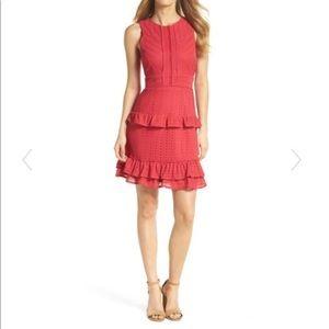 Chelsea28 Sleeveless Ruffle Knit Sheath Dress